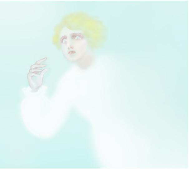 目を見張る天使