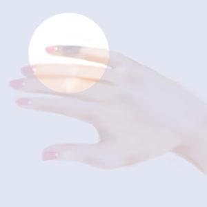 小指が紫色に変化してしている図