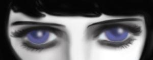 青い目の猫子