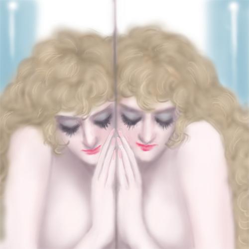 鏡の中の私