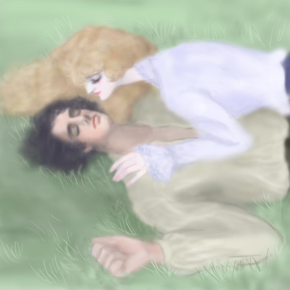 草の上に眠る